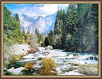 Картина в багетной рамке Горная река (2)
