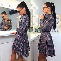 Платье удлинённое сзади с широкой юбкой