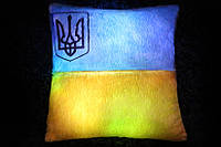 Светящаяся подушка  Флаг Украины