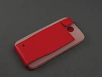 Чехол Illusion для HTC Desire 300 красный