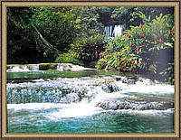 Картина в багетной рамке Горная река (3)