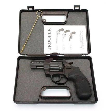 """Под патрон Флобера револьвер Trooper 3"""", цинк мат/чёрн пласт/чёрн, копия огнестрельного оружия, револьвер , фото 2"""