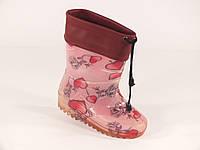 """Резиновые сапоги детские Verona """"Сердечки на розовом"""", фото 1"""