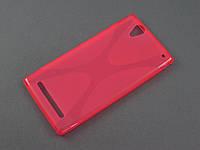 Чехол NewLine для Sony Xperia T2 D5322 розовый