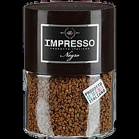 Растворимый кофе с добавлением молотого зерна  IMPRESSO Negro  в стеклянной банке 100 грамм