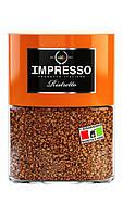 Растворимый кофе с добавлением молотого зерна  IMPRESSO Ristretto  в стеклянной банке 100 грамм