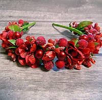 Ободок Роскошь новый (красный), фото 1