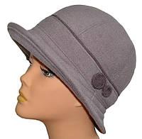 Шляпа женская Глория   из кашемира весенняя  размеров 56-57 и 57-58  серая, лиловая, бежевая