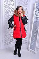 Куртка зимняя для девочки  «Мышка» Разные цвета