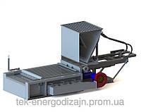 Топка с шурующей планкой механическая для сжигания каменных и бурых углей ТШПм-1.5