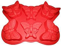"""Силиконовая форма для выпечки """"Бабочки""""  325*230*34 мм"""