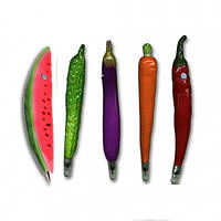 Ручка Баклажан, перчики, морковка