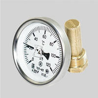 Термометр биметаллический ТБП-63/50 (0+120°C), фото 1