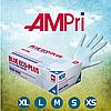 Перчатки нитриловые голубые (100 шт.) BLUE ECO-PLUS, AMPri