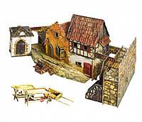 Картонная модель Городская площадь. Рынок 375 УмБум