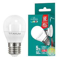 LED лампа Titanum от VIDEX G45 5W E27 4100K (белый) 720 Lm