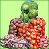 Сетка-мешок Agreen 40x60 фиолетовый 17/100шт