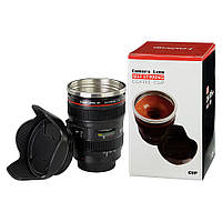 Кружка-термос в виде объектива Camera Lens Self Stirring Coffee Cup