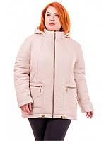 """Демисезонная куртка большого размера """"Флора"""", фото 1"""