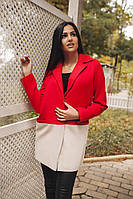Женское пальто двуколор. Цвета. 021 СЕ