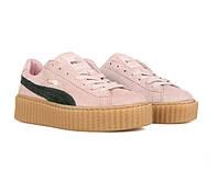 Кроссовки женские Puma x Rihanna Creeper Coral Pink (пума)
