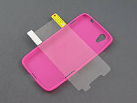 Комплект чехол и пленка для Lenovo S960 Vibe X розовый