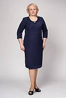 Батальное платье материал трикотаж с жакардовым переплетением