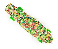 """Пенни Борд """"Весна"""" 22 Зеленые Колеса / пенниборд скейт (penny board), скейтборд"""