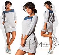 Платье со вставками джинса Цвета Норма 111/1 СЮ
