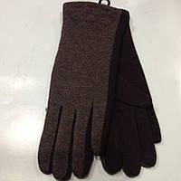 Трикотаж стеганная женские перчатки  оптом