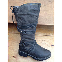 Сапожки для девочки, недорогая детская зимняя обувь р.33-38
