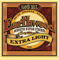 Струны для акустики Ernie Ball 2006 Earthwood 80/2 Extra Light