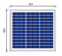 Солнечная поликристаллическая батарея Perlight solar 30Вт 12В