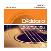 Струны для акустики D'Addario EJ15 Phosphor Bronze