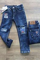 Утепленные джинсы на флисе для мальчиков 10,14 лет