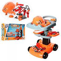 Набор инструментов детский (Тележка+инструменты+каска) 36778-50