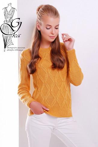 Фото Шерстяного женского свитера с акрилом Марта