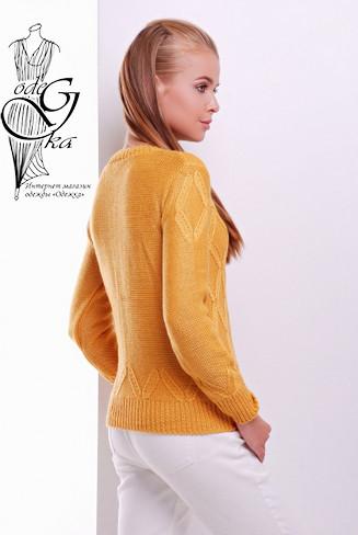 Фото-1 Шерстяного женского свитера с акрилом Марта