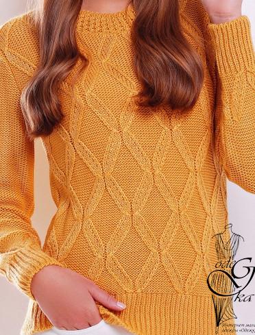 Фото-3 Шерстяного женского свитера с акрилом Марта