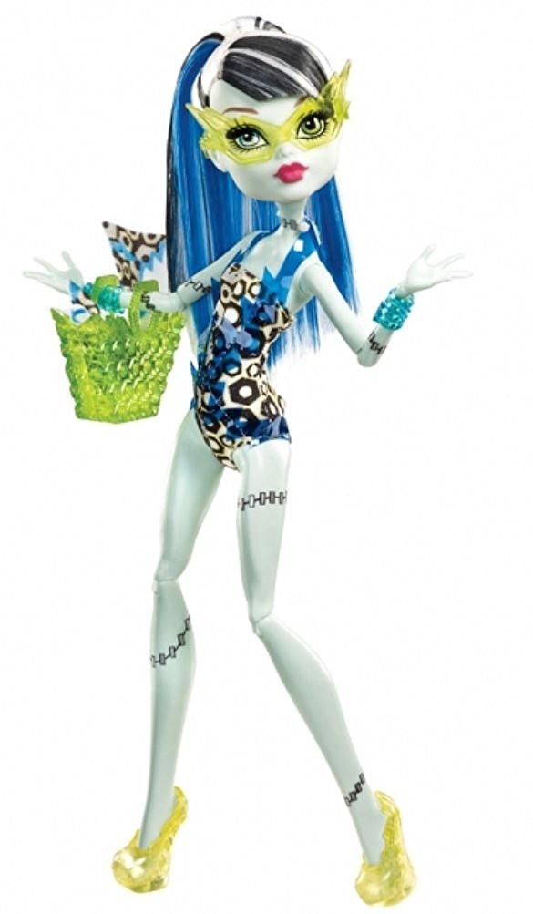 Кукла Фрэнки Штейн Пляжная (Monster High Frankie Stein Fashion Doll Swimsuit Leopard Print)