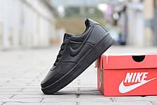 Подростковые зимние кроссовки Nike Air Force черные 46р, фото 3