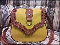 Женская плетеная ретро сумка в стиле Хлоя