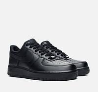 Кроссовки женские Nike Air Force Low Black (найк форс) черные