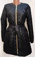 Стильное женское пальто черного цвета Шанель № 550