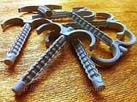 Дюбель крюк 70 mm двойной для крепления труб и кабеля(100шт в упаковке)