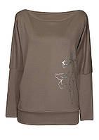 Женская туника однотонная с принтом, разных цветов из качественного трикотажа больших размеров.