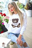 Женский свитшот с вышивкой ручной работы