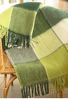 Теплый полуторный плед Vladi 20% овечья шерсть - разные цвета