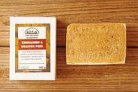 Греческое оливковое мыло ручной работы Апельсин & Корица (The Natural Workshop), 145g., Греция