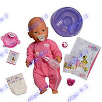 Пупс кукла, Беби Борн. 2 соски! аналог Baby Born.